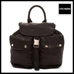⭐️⭐️ STEVE MADDEN DUO POCKETS BLACK BACKPACK BAG